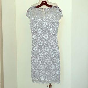 Gray Belle Badgley Mischka Dress
